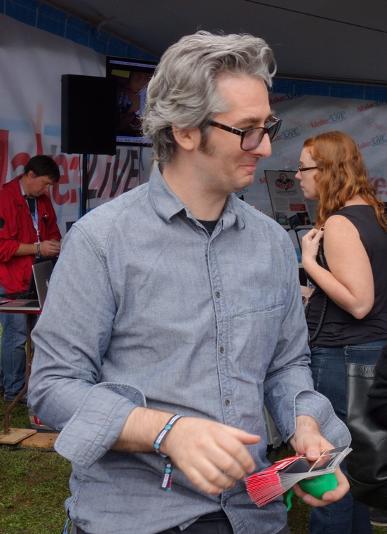Bre Pettis, CEO of Makerbot, at last summer's Maker Faire in Queens.