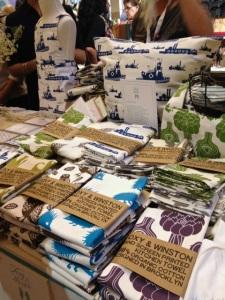 Foxy & Winston towels designed by Jane Buck, Red Hook, Brooklyn
