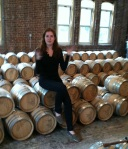 Sunday's tour guide Nicole Austin explains the process from barley and corn to barrels of bourbon.