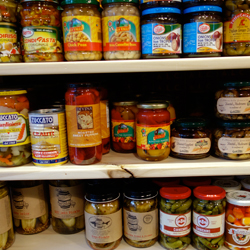 Italian and Brooklyn products share the shelves at A.L.C. Italian Grocery.