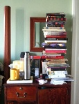 Full disclosure: This writer's bedside book collection.