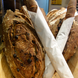 Raisin walnut, baguette, olive—just a few of Bien Cuit's breads.