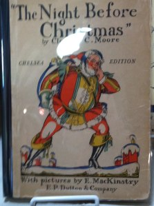 "This ""Chelsea Edition"" of Clement Clarke Moore's poem shows Santa landing on a proper flat Chelsea rowhouse roof."