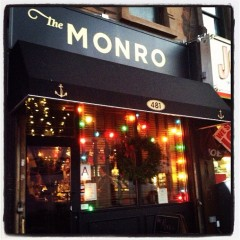 Saturday: Holiday Artisans Fair at The Monro (Liverpool in Brooklyn). Park Slope. 2pm-7pm.