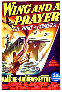 Wing and A Prayer, 1944 moviePoster
