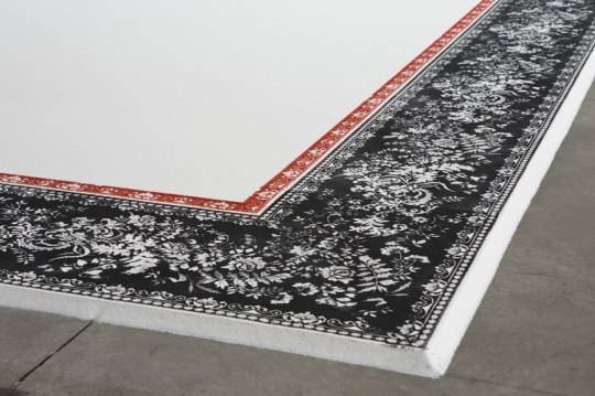 Two tons of sugar make up Aude Moreau's Sugar Carpet, on view at Smack Mellon, part of Brooklyn/Montréal Contemporary Art event in DUMBO.