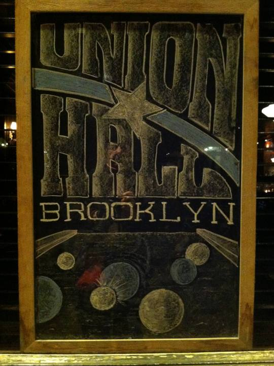 "You might think that Union Hall is where labor union members turn out for job calls. But not here. This Union Hall is on Union Street, as in ""Union vs. Confederacy,"" and as the billiards suggest, it's a place you're invited to hang out. (Brooklyn Artisan photo pool)"
