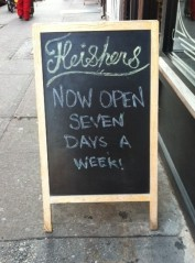 Fleishers Now Open 7 days