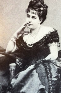 Lillie de Hegermann-Lindencrone's author photo for her first memoir. She studied with the same voice teacher as Jenny Lind and sometimes sang duets with her at private dinners, but Lillie did not want a life upon the stage.