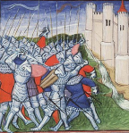 French army defeated by English English outside the walls of Calais, 13