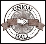 Union Hall handshake logo