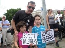Summer, 2012 protest. (Photograph, DNAinfo/Leslie Albrecht)
