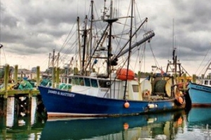 "The Boat: """"Captain James Haitz caught your fish on the F/V James and Matthew, an otter trawler docked out of the Port of Galilee, Rhode Island. Captain Haitz has collaborated with scientists at Cornell's Cooperative Extension Marine Program to modifiy his trawling gear to reduce his bycatch,"" Mermaid's Garden's email to members explains. ""In his area, the yellowtail stock was recently declared rebuilt."""