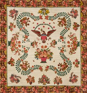 Elizabeth Welsh. Quilt, circa 1825–40. Brooklyn Museum, Gift of The Roebling Society