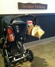 Starbucks stroller parking