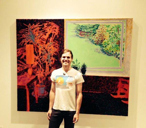 "The artist Dylan Vanderhoeck, with ""Gibsonia,"" a 2013 work. (Brooklyn Artisan Photo Pool.)"