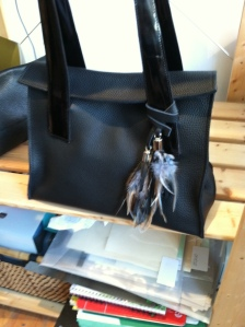 Maria Castelli leather bag in black